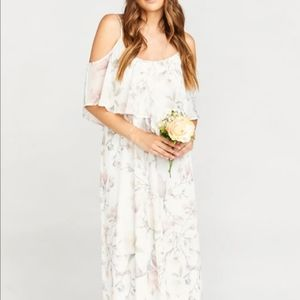 SHOW ME YOUR MUMU Caitlin Ruffle Maxi Dress
